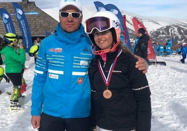 Milanovčanka Petra Lazović treća na prvenstvu Srbije u skijanju