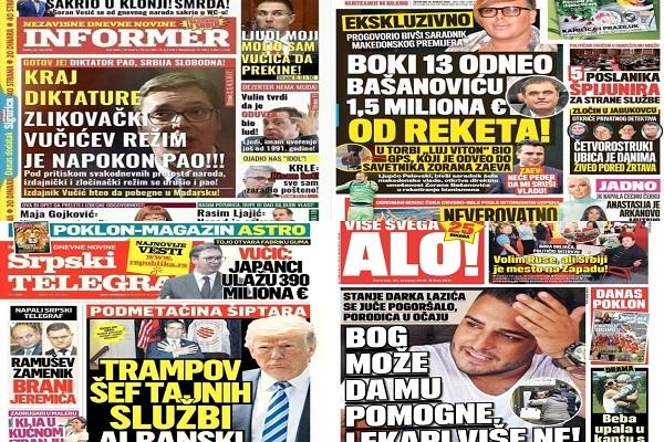 Raskrikavanje: Za pola godine više od 400 laži na naslovnicama četiri tabloida