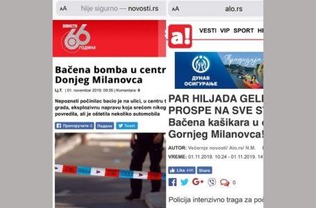 Nije eksplodirala bomba u gradu, lažnu vest plasirao Alo