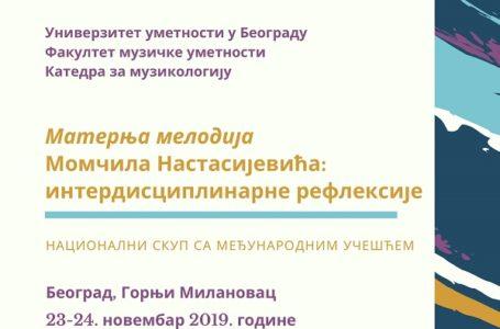 Maternja melodija Momčila Nastasijevića: interdisciplinarne refleksije
