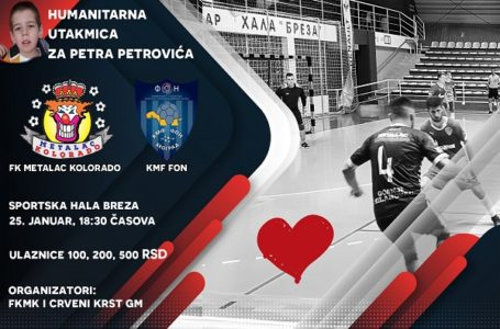 Futsal; Humanitarna utakmica za Petra Petrovića