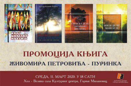 Književno veče Živomira Jelića – Purinka