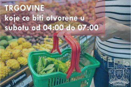 Prodavnice koje će biti otvorene od 04 – 07h u subotu, 4. aprila