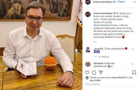 Vučić upisao školu za košarkaškog trenera