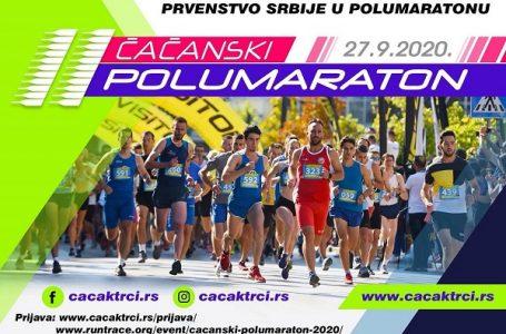 Prvenstvo Srbije u polumaratonu i drugi Čačanski polumaraton