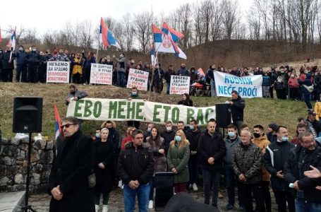 Protest u Dobrinji