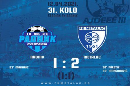 Lazetić, FK Metalac: Pred nama je paklen finiš sezone
