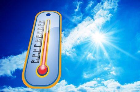 Vrh toplog talasa, temperatura do 40 stepeni